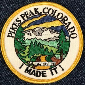 Pikes Peak, Colorado, I Made It! souvenir patch